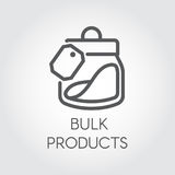 Bulk products icon. Cookery concept. Simple logo or button drawing in line style. Vector illustration Royalty Free Stock Photography