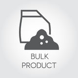 Bulk products in paper bag. Flat icon of cookery and kitchen theme. Simple vector illustration Stock Images