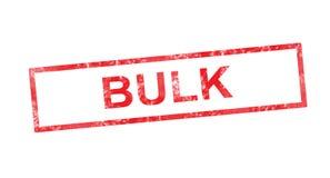 Bulk in red rectangular stamp Stock Image