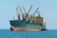Bulk ship at anchor Stock Photos