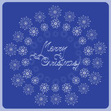 Bulk silver snowflakes. Congratulations on Christmas. Design for holiday cards, greetings, invitations to gala evening ceremony Royalty Free Stock Photography