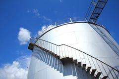bulk stållagringsbehållare Arkivbilder