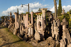 Bulk stone carvings in Tzintzuntzan Royalty Free Stock Photos