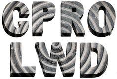 Font radial design. Bulk stone font radial design on a white background Royalty Free Stock Photos