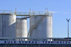Bulk Storage Terminals - Auckland New Zealand Stock Photos