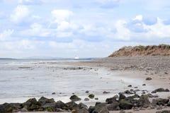 Bulk tanker at rocky beal beach Stock Photography