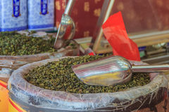 Bulk tea for sale at the market in China Royalty Free Stock Image