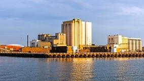 Bulk terminal in the Port of Kalmar Royalty Free Stock Photos
