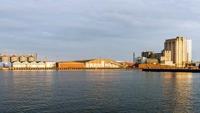 Bulk terminal in the Port of Kalmar Stock Photography