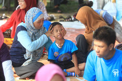 Bulk therapy Children with special needs. A number of children with special needs following the mass therapy in Solo, Central Java, Indonesia. Merangsak this Royalty Free Stock Photos