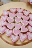 Bulk treats with a heart shape.  royalty free stock photos
