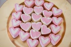 Bulk treats with a heart shape.  royalty free stock photography