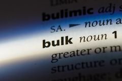 Bulk. Word in a dictionary.  concept royalty free stock photography