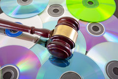 Music copy right law concept Stock Images