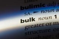 bulkiness стоковая фотография rf