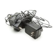 Bulky AC adapters (commonly called wall warts) Royalty Free Stock Photos