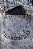 A bulky wallet on a jeans pocket Royalty Free Stock Images