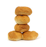 Bulky Wheat Roll Stack Royalty Free Stock Photo