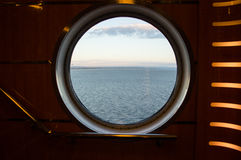 Bull's Eye on a Ferry in Newfoundland Royalty Free Stock Image