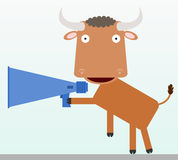 Bull�s bullhorn Stock Photo