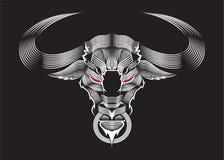 Bull στον Πάτρικ Seymur Style Vector Ilustration Στοκ Φωτογραφία