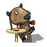 Bull выпивает кофе Стоковое Изображение