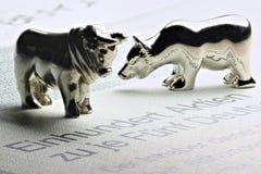 Bull и медведь Стоковое Фото