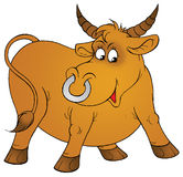 Bull. Isolated clip-art and children's illustration for yours design, postcard, album, cover, scrapbook, etc Royalty Free Stock Image
