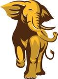 Поручать слона Bull африканца ретро Стоковые Изображения RF