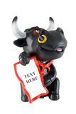 Bull. Figurine of the black bull - the character of New Year 2009 Royalty Free Stock Image