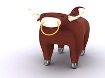 Bull. Sign of zodiac. 3d taurus Stock Image