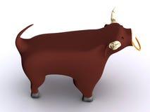 Bull. Sign of zodiac. 3d taurus Royalty Free Stock Photos