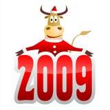 Bull. 2009 year - year of bull Stock Photo