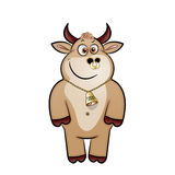Bull. Cute cartoon style, the cheerful bright bull in a year of a bull royalty free illustration
