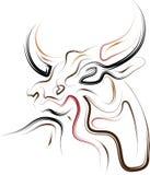 Bull abstrata ilustração do vetor