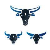 Bull ancient emblems elements set. Heraldic vector design elemen Royalty Free Stock Image