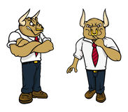 Bull angry poses Royalty Free Stock Photos