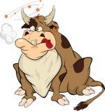 Bull après corrida. Dessin animé Images libres de droits