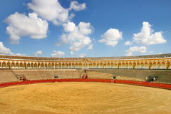 Bull arena in seville. Landscape view of the bull arena in seville Stock Images