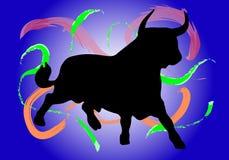 Bull avec différentes couleurs Images libres de droits