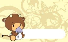 Bull baby cartoon background. In format vector illustration