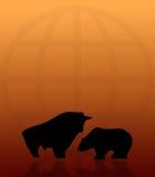 Bull and Bear 004 Royalty Free Stock Photos