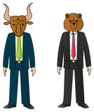 Bull And Bear Royalty Free Stock Image