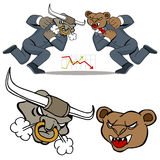 Bull Bear Battle Stock Photo