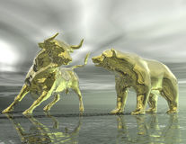 Bull and bear Stock Images