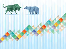 Bull and bear economy Royalty Free Stock Photography