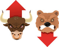Bull and bear finance economy business trend Stock Photos