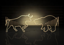 Bull And Bear Market Trends Royalty Free Stock Images