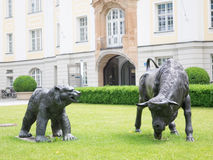 Bull and bear munich Royalty Free Stock Photos