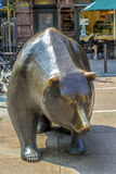 The Bull and Bear Statues at Royalty Free Stock Photo